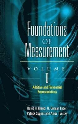 bokomslag Foundations of Measurement Volume I