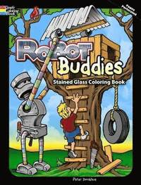 bokomslag Robot Buddies Stained Glass Coloring Book