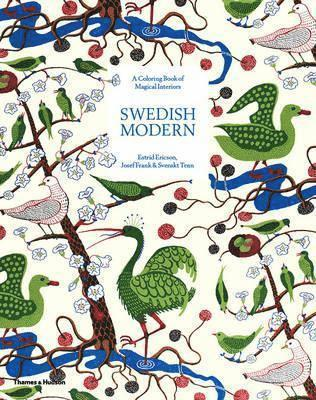 bokomslag Swedish Modern: A Colouring Book of Magical Interiors