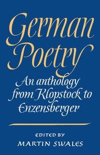 bokomslag German Poetry