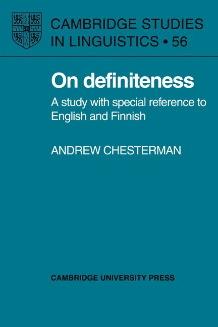 On Definiteness 1