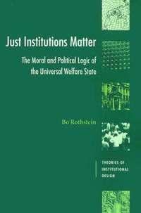 bokomslag Just Institutions Matter