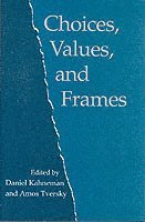 bokomslag Choices, Values, and Frames