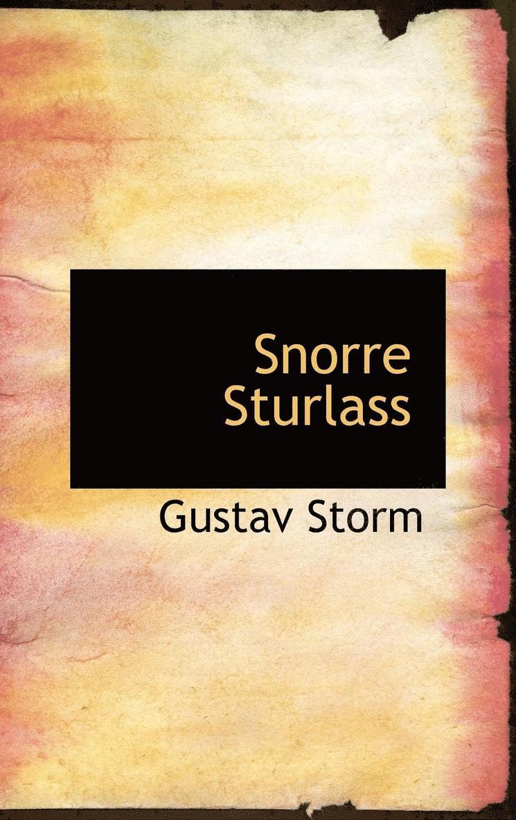 Snorre Sturlassons Historieskrivning 1