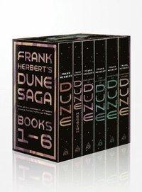 bokomslag Frank Herbert's Dune Saga 6-Book Boxed Set: Dune, Dune Messiah, Children of Dune, God Emperor of Dune, Heretics of Dune, and Chapterhouse: Dune