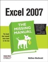 bokomslag Excel 2007: The Missing Manual