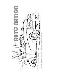bokomslag Auto Nation: A Coloring Book