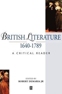 bokomslag British Literature 1640-1789