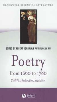 bokomslag Poetry from 1660 to 1780