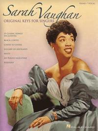 bokomslag Sarah Vaughan: Original Keys for Singers