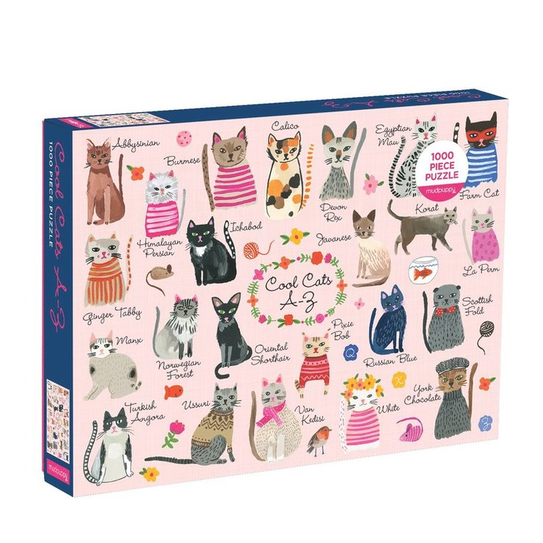 Pussel 1000 bitar Cool Cats A-Z 1