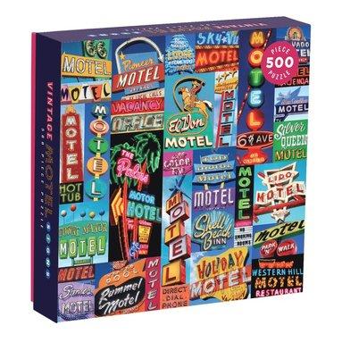 Pussel 500 bitar Vintage Motel Signs 1