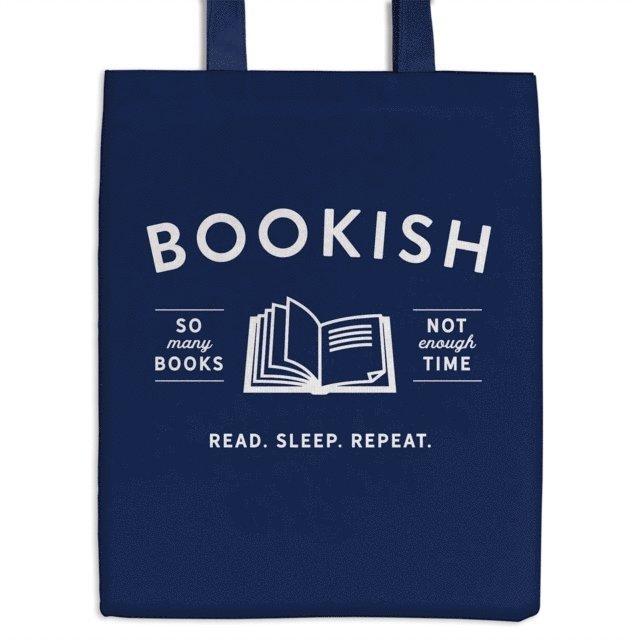 Bookish Canvas Tote Bag 1