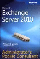 bokomslag Microsoft Exchange Server 2010 Administrator s Pocket Consultant