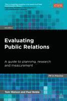 bokomslag Evaluating Public Relations