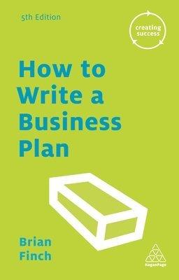 bokomslag How to Write a Business Plan