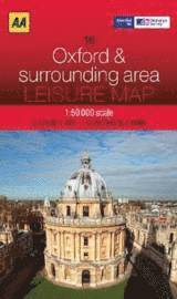 AA Leisure Map: Oxford & Surrounding Area