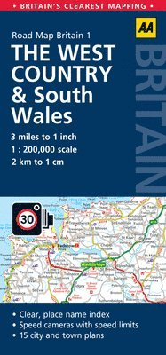 bokomslag West Country & Wales Road Map