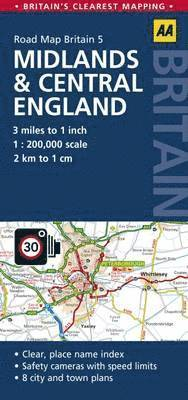 bokomslag Midlands & Central England Road map
