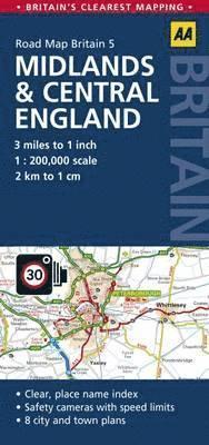 bokomslag Midlands & Central England Road map