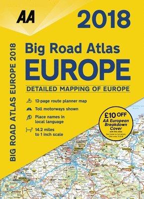 bokomslag AA Big Road Atlas Europe