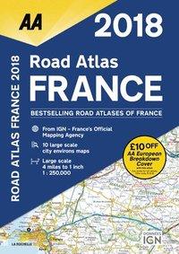 bokomslag AA Road Atlas France