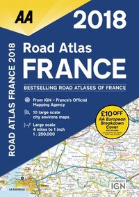 bokomslag AA Road Atlas France: 2018