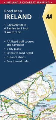 bokomslag AA Road Map Ireland