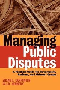 bokomslag Managing Public Disputes