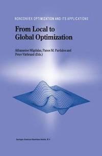 bokomslag From Local to Global Optimization