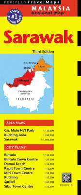 bokomslag Sarawak travel map: malaysia regional ma