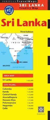 bokomslag Sri Lanka Travel Map