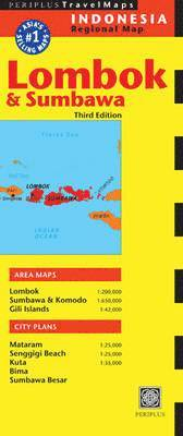 bokomslag Lombok and Sumbawa Travel Map