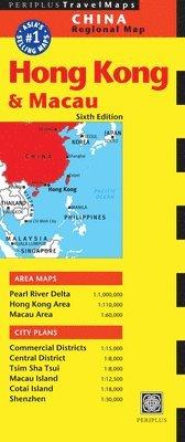 bokomslag Hong Kong & Macau Travel Map Sixth Edition