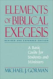 bokomslag Elements of Biblical Exegesis