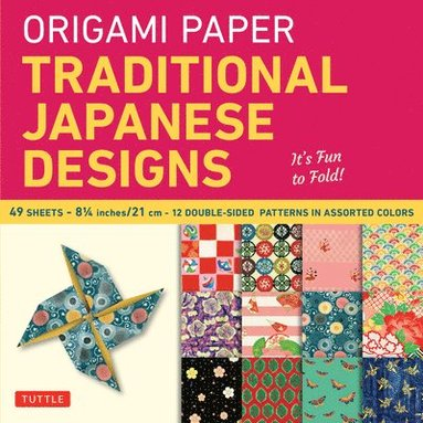 bokomslag Origami paper - traditional japanese designs large