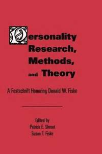bokomslag Personality Research, Methods, and Theory