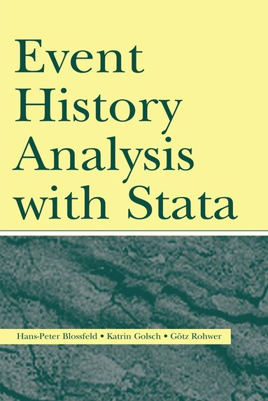 bokomslag Event History Analysis With Stata