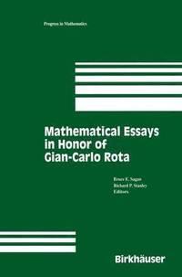 bokomslag Mathematical Essays in honor of Gian-Carlo Rota
