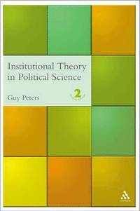 bokomslag Institutional Theory in Political Science