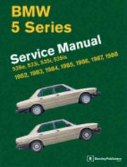 bokomslag BMW 5 Series Official Service Manual 1982-1988