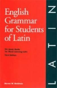 bokomslag English Grammar for Students of Latin