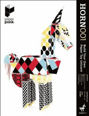 bokomslag Paper Punk: Horn 001: Build Your Own Paper Toy Unicorn [With 190 Stickers and Poster and 18 Punch & Build Shapes and Folder]