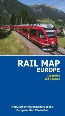 bokomslag Rail Map of Europe: 1st Edition, 2nd Revision: 2017