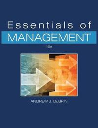 bokomslag Essentials of Management