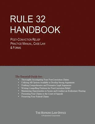bokomslag Rule 32 Handbook: Post-Conviction Relief Practice Manual, Case Law & Forms