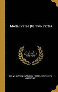 bokomslag Modal Verse (in Two Parts)