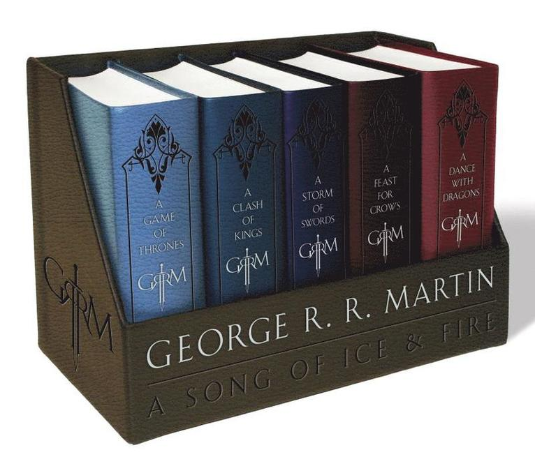 A Game of Thrones Leather-Cloth Boxed Set: A Game of Thrones, a Clash of Kings, a Storm of Swords, a Feast for Crows, and a Dance with Dragons 1