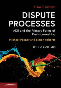 bokomslag Dispute Processes: ADR and the Primary Forms of Decision-making