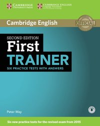 bokomslag First Trainer Six Practice Tests with Answers with Audio
